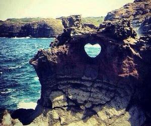 heart, sea, and summer image