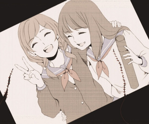 anime, monochrome, and bestfriends image