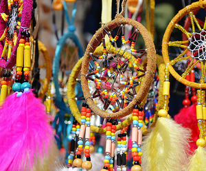dream catcher, dreamcatcher, and colourful image