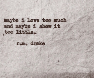 quote, love, and rm drake image