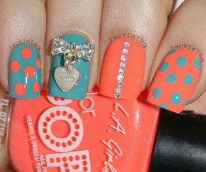 bling, coral, and blue image