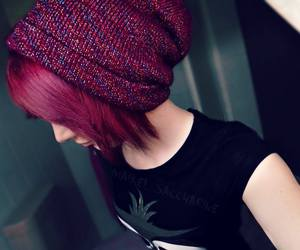 alt girl, body mods, and red hair image
