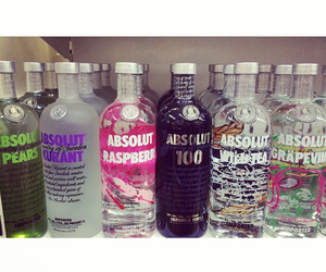 absolut, alcool, and black image