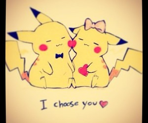 love, pokemon, and pikachu image