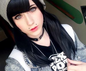 alt girl, indie, and black hair image