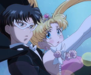 sailor moon, tuxedo mask, and love image