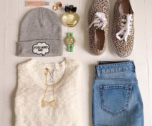 outfit, clothes, and beanie image