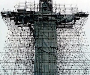brazil, construction, and cristo redentor image
