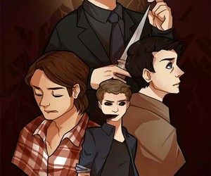 crowley, dean winchester, and demon image
