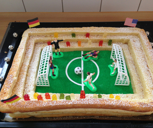 cake, soccer, and kuchen image
