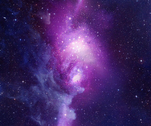 galaxy, space, and purple image