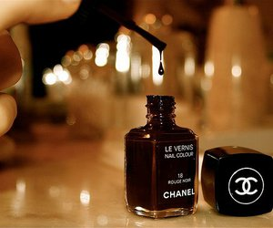 black, chanel, and favourite image