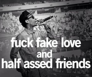 quotes, fake love, and wiz khalifa image