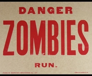 zombies, danger, and run image