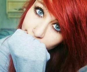 alternative, blue eyes, and girl image
