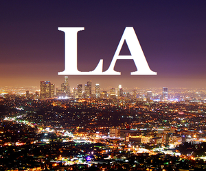 city, light, and los angeles image
