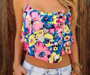 fashion, summer, and flowers image