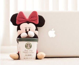 starbucks, apple, and minnie image