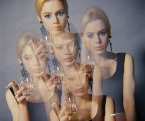edie sedgwick, cigarette, and 60s image