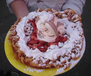 food, funnel cake, and photography image