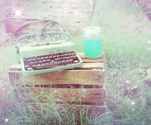 light green, vintage, and machine image