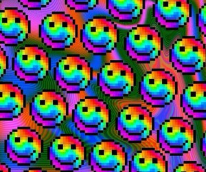 rainbow, background, and smile image