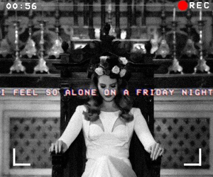 alone, friday night, and lana del rey image