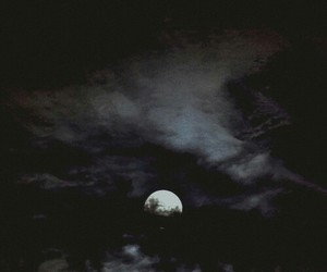 night, moon, and clouds image