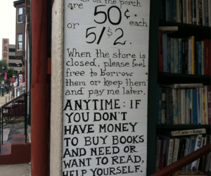 book, sign, and free image