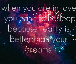 dreams, reality, and text image