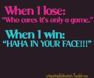 win, lose, and loser image