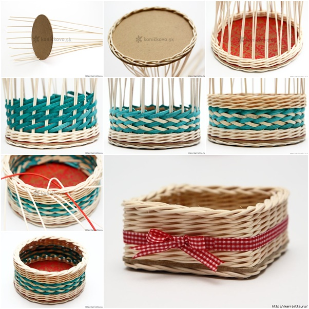 how to diy weave cardboard bottom rattan basket www fabartdiy com
