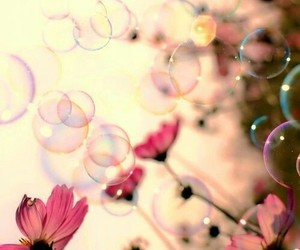 bubbles, color, and flowers image