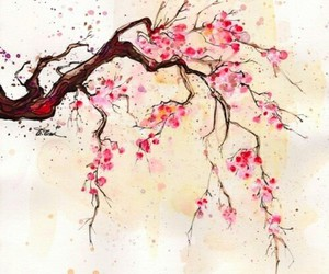 flowers, art, and tree image