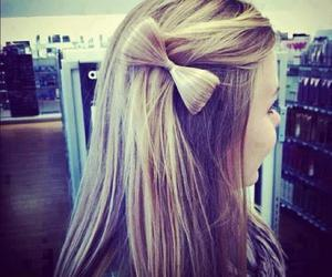 blonde, bow, and hair image