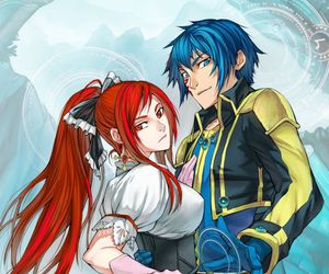 fairy tail and erza and jellal image