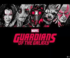 starlord, gamora, and groot image