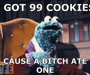 cookie, funny, and cookie monster image