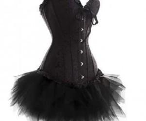 black, corset, and tutu image