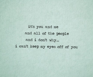 quote, love, and you and me image