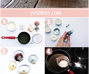 candle, diy, and seashells image