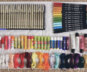 art, art supplies, and colorful image