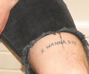 die, tattoo, and sad image