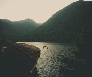 nature, mountains, and jump image