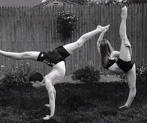 ballet, couple, and flexibility image
