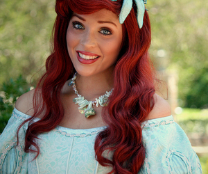 ariel, DISNEYWORLD, and the little mermaid image