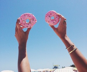 donuts, summer, and food image