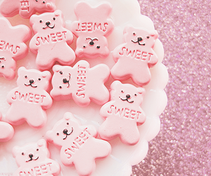sweet, pink, and bear image