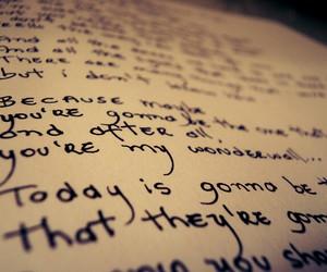 Lyrics, song, and oasis image