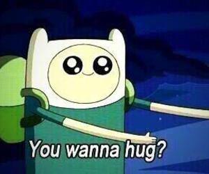 hug, adventure time, and finn image